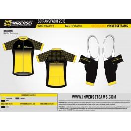 Exemple réalisation : tenue cycliste club Inverse
