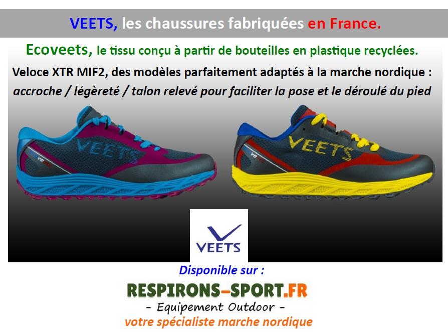chaussures francaises veets marche nordique