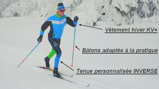 batons et vetements ski de fond